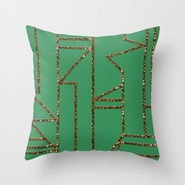 Ladders B (green) Throw Pillow