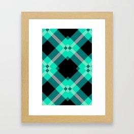 Xadrez Verde Agua Framed Art Print