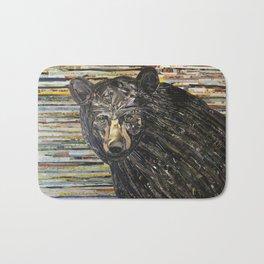 Colorful Black Bear Collage by C.E. White Bath Mat
