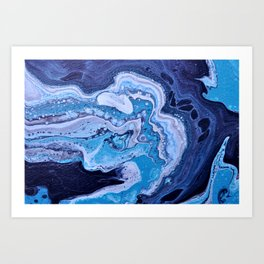 Blue Strike Art Print