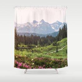 Mountain Wildflower Hiking Highs - 74/365 Shower Curtain