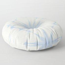 Shibori Starburst Sky Blue on Lunar Gray Floor Pillow