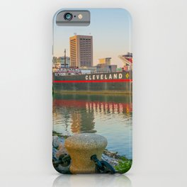 Cleveland Ohio Lake Erie View of City iPhone Case