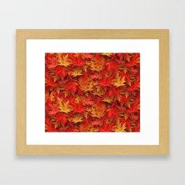 Autumn Case Fall Leaves Framed Art Print