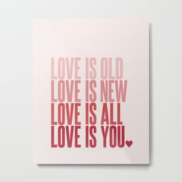 Love Is Old, Love Is New Metal Print