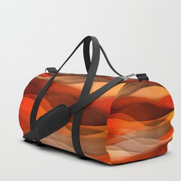 """Sea of sand and caramel waves"" Duffle Bag"