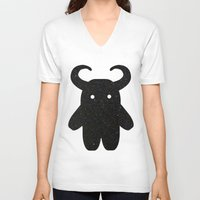 taurus V-neck T-shirts featuring Taurus by Leandra Lilly Dreyer