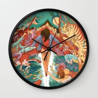 balance Wall Clocks featuring Balance by Mary Slumber
