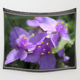 Tradescantia named Blue Stone Wall Tapestry
