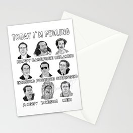 Nicolas Cage Signed - Today I'm Feeling Stationery Cards