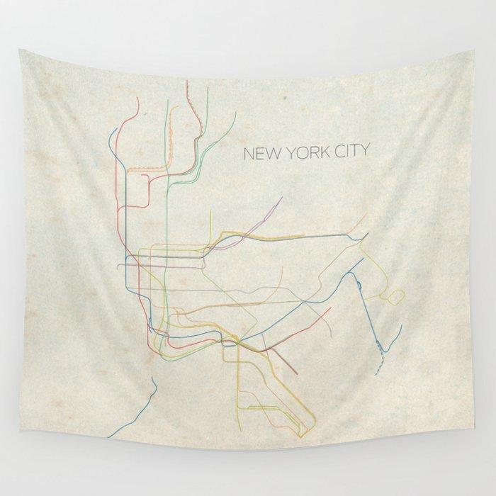 Subway Map Tapestry.Minimal New York City Subway Map Wall Tapestry By Chrisnapolitano