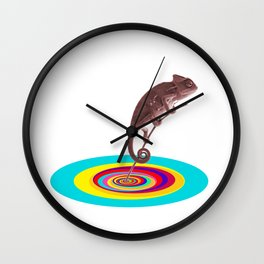 Psychedelic Chameleon Wall Clock