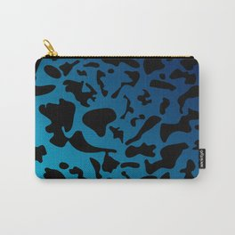 Spotty light blue blots on a dark military gradient. Carry-All Pouch