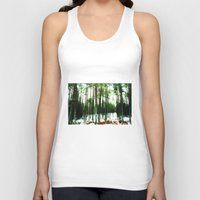 woodland Tank Tops featuring Woodland by PRETTY BONES LEE
