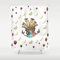 returns Shower Curtains featuring Kalimba Tiki DK Country Returns by Izz Darcie