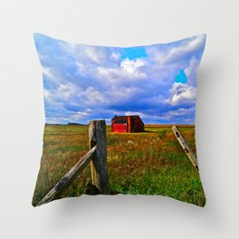 One Red Barn Throw Pillow