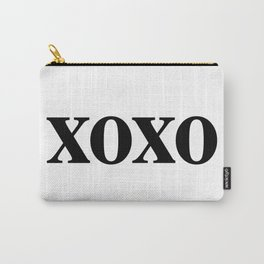Black XOXO Carry-All Pouch