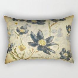 Blue Daisies Rectangular Pillow