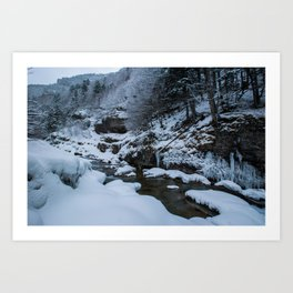 Winter in Ordesa Art Print