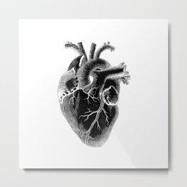 Black Heart ! valentine's day Metal Print