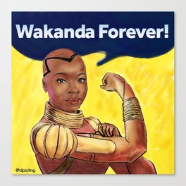 Wakanda Forever Canvas Print