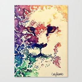 Watercolor Lion Canvas Print