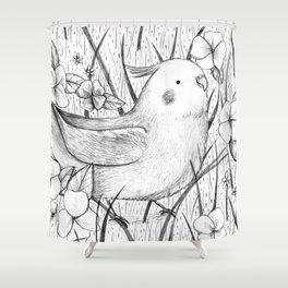 Cockatiel in Grass Shower Curtain