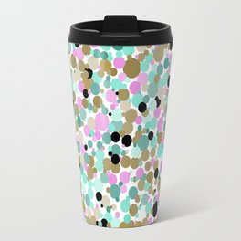 Dotty - dots in pink, teal, and gold. Travel Mug