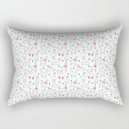 Holiday Llamas Rectangular Pillow
