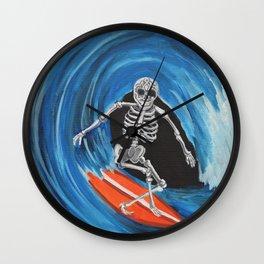 Surfer Muerto Wall Clock
