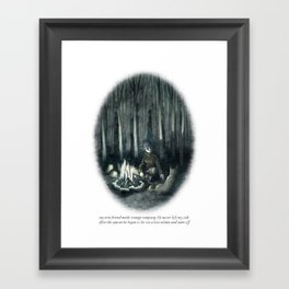 Behind You 35 Framed Art Print