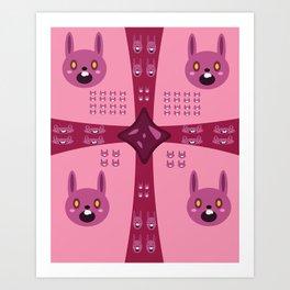 Surprise Pink Bun Bun! Art Print
