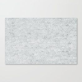 White Washed Brick Wall Stone Cladding Canvas Print