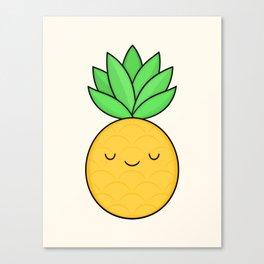 Happy Pineapple Canvas Print