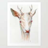 stag Art Prints featuring Stag by Brandon Keehner