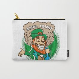 420 Percent Irish Wasted Smoking Leprechaun Carry-All Pouch