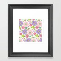 happy flowers Framed Art Print