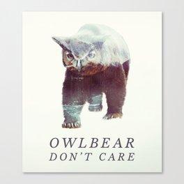 Owlbear (Typography) Canvas Print