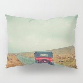 Vintage red car, Ireland Pillow Sham