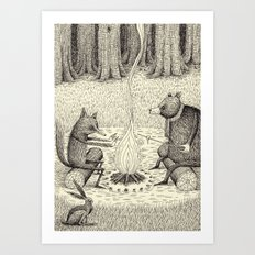 'Camp Fire' Art Print