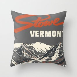 Stowe Vermont, ski capital of the east Throw Pillow