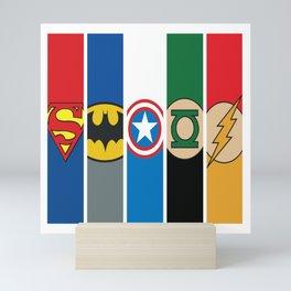 Comic Superhero Logos No. 1-5 Mini Art Print