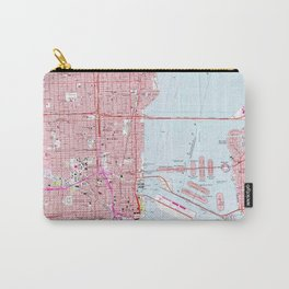 Vintage Map of Miami Florida (1962) Carry-All Pouch