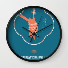 If A Bird Doesn't Sing Series 2 of 3 Wall Clock