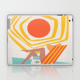 Miami Retro Vintage Travel Poster Laptop & iPad Skin