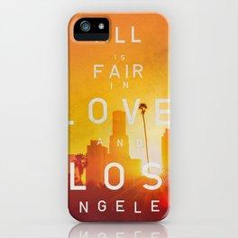 LA LA SUNSET iPhone Case