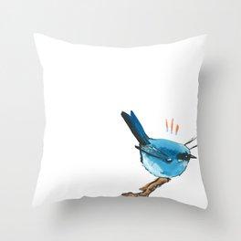 bluebird study Throw Pillow