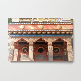 Main entrance tibet decoration ornaments. Metal Print