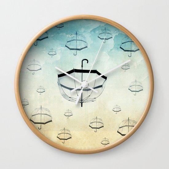 wishing for rain Wall Clock