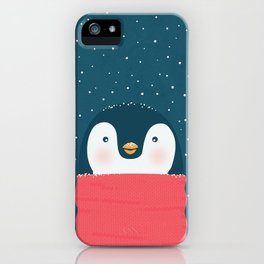 Christmas penguin iPhone Case
